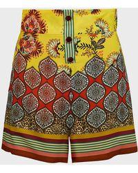Alexis Florian Floral High-waist Shorts - Multicolour