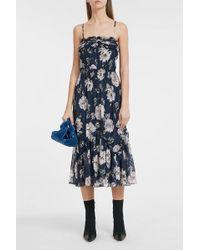 Rebecca Taylor - Magnolia Floral-print Silk-blend Dress - Lyst