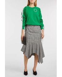 Monse Printed Cotton-jersey Sweatshirt - Green