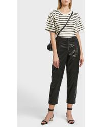 Current/Elliott - Roadie Stripy Cotton-blend T-shirt - Lyst