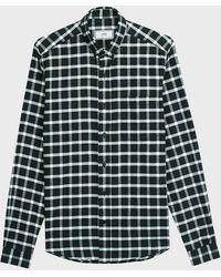 AMI Long-sleeve Checked Cotton Shirt - Multicolour