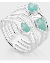 Monica Vinader Amazonite And Sterling Silver Siren Cluster Cocktail Ring - Metallic