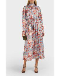 Magda Butrym Viseu Floral Silk Midi Dress - Multicolour