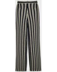 Three Graces London Filippa Striped High-waist Trousers - Multicolour