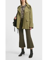 Isabel Marant Lyre Cropped Cotton-blend Trousers - Green