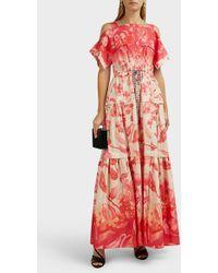 Peter Pilotto Floral Cold-shoulder Maxi Dress - Multicolour
