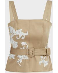 Alexis Tienna Embroidered Top - Natural