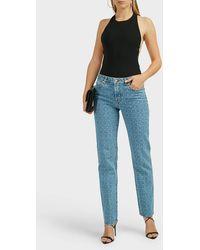 1017 ALYX 9SM Logo-print Checked Jeans - Blue