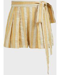 Three Graces London Jola Striped Linen-blend Shorts - Multicolour