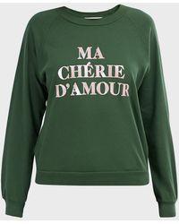 Wildfox Ma Cherie Fiona Crewneck Sweater - Green