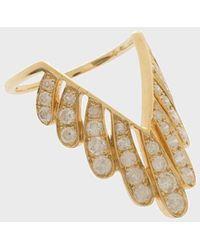 Yvonne Léon Diamond And 18k Yellow Gold Les Vivianes Ring - Metallic