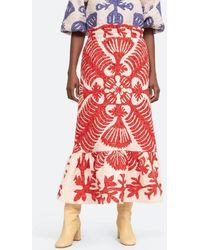 Boutique Ludivine Sea Henrietta Skirt - Red