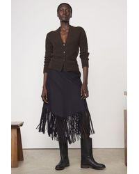 Boutique Ludivine Officine Générale Camelia Fringe Skirt - Blue