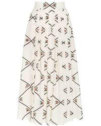 Boutique Ludivine Emilia Wickstead Scottie Skirt - Natural