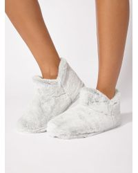 Boux Avenue - Plush Tipped Booties - Lyst