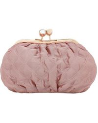 Boux Avenue - Quilted Satin Cosmetic Bag - Lyst
