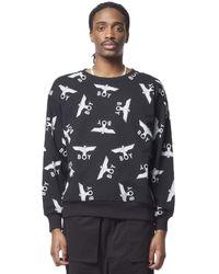 BOY London Boy Repeat Sweatshirt - Black