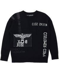 BOY London Boy Receipt Knit Jumper Black/white