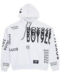 BOY London Boy 1976 Glitch Hood White/black