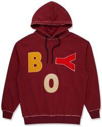 BOY London Boy Letters Hood Burgundy - Black