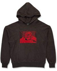 BOY London Boy Photo Print Hood Washed Black/red