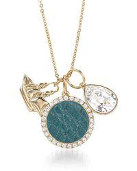 Brahmin Crystal Charm Necklace Agate Fairhaven - Metallic