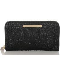 Brahmin Melbourne Collection Suri Croco-embossed Wallet - Black