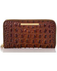 Brahmin Melbourne Collection Suri Croco-embossed Wallet - Brown