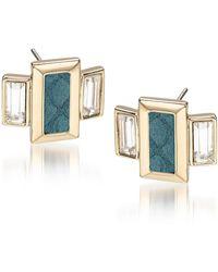 Brahmin Emerald Cut Crystal Earrings - Multicolor