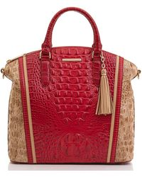 Brahmin Large Duxbury Satchel Lemonade Nostalgia - Multicolor