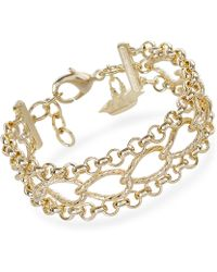 Brahmin - Three Row Chain Bracelet Providence - Lyst