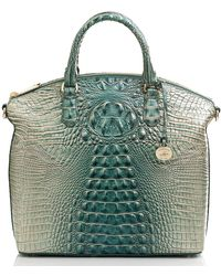 Brahmin Large Duxbury Satchel - Green