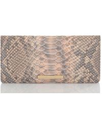 Brahmin Chiffon Mare Ady Snakeskin-print Leather Wallet - Multicolor