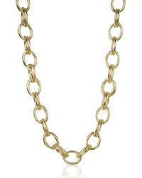 Brahmin Double Cable Link Necklace 18k Gold Plated Providence - Metallic