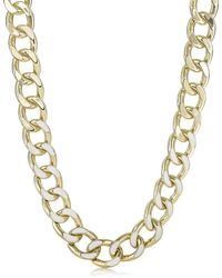 Brahmin Fairhaven Curb Chain Necklace Ivory Jewelry - White
