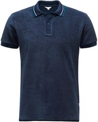 Orlebar Brown Frottee-Poloshirt 'Sawyer' - Blau