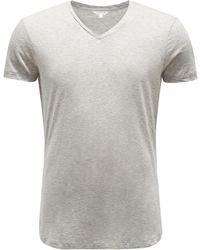 Orlebar Brown V-Neck T-Shirt - Grau