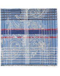 Etro Tuch gemustert - Blau