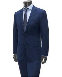 Canali Anzug kariert - Blau