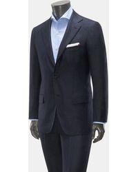 Kiton Cashmere Anzug - Blau