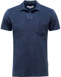 Orlebar Brown Frottee-Poloshirt 'Terry' - Blau