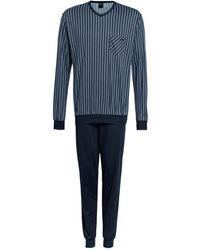 CALIDA Schlafanzug RELAX IMPRINT - Blau