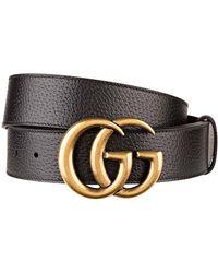 Gucci Ledergürtel GG MARMONT - Schwarz