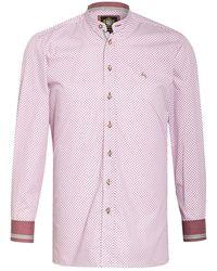hammerschmid Trachtenhemd mit Stehkragen Slim Fit - Mehrfarbig