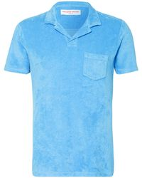 Orlebar Brown Frottee-Poloshirt TERRY - Blau