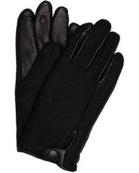 UGG Handschuhe mit Leder und Touchscreen-Funktion - Schwarz