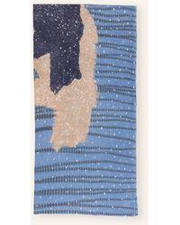 Hemisphere Cashmere-Schal BAMILY - Blau