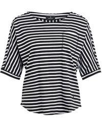 Monari T-Shirt mit Schmucksteinbesatz - Schwarz