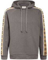 Gucci Kapuzenpullover aus Baumwolljersey - Grau