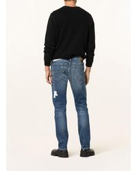 True Religion Destroyed Jeans ROCCO Relaxed Skinny Fit - Blau